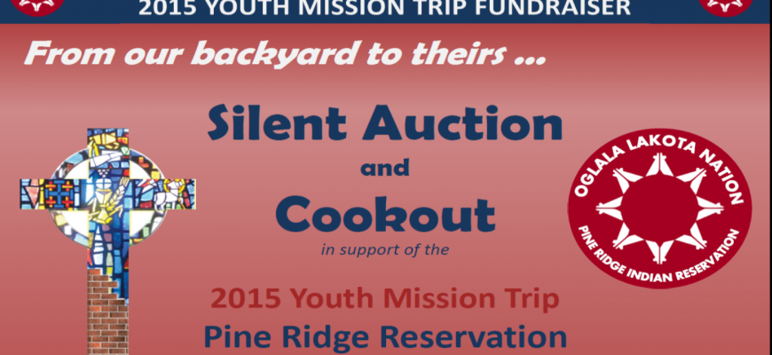 Silent Auction and Cookout graphic for slider
