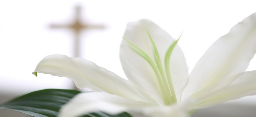 Easter Lily & cross